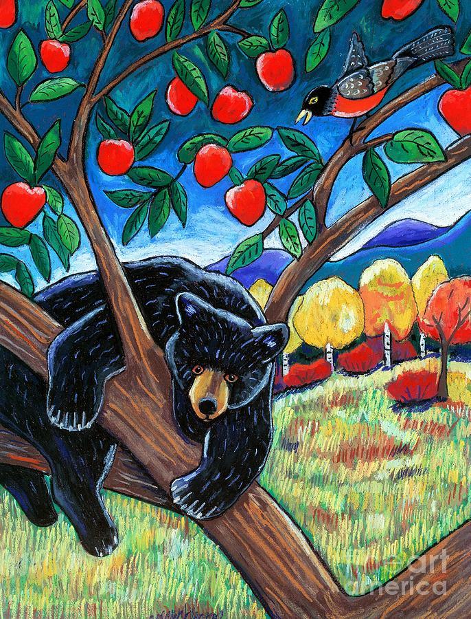 Bear Pastel - Bear In The Apple Tree by Harriet Peck Taylor