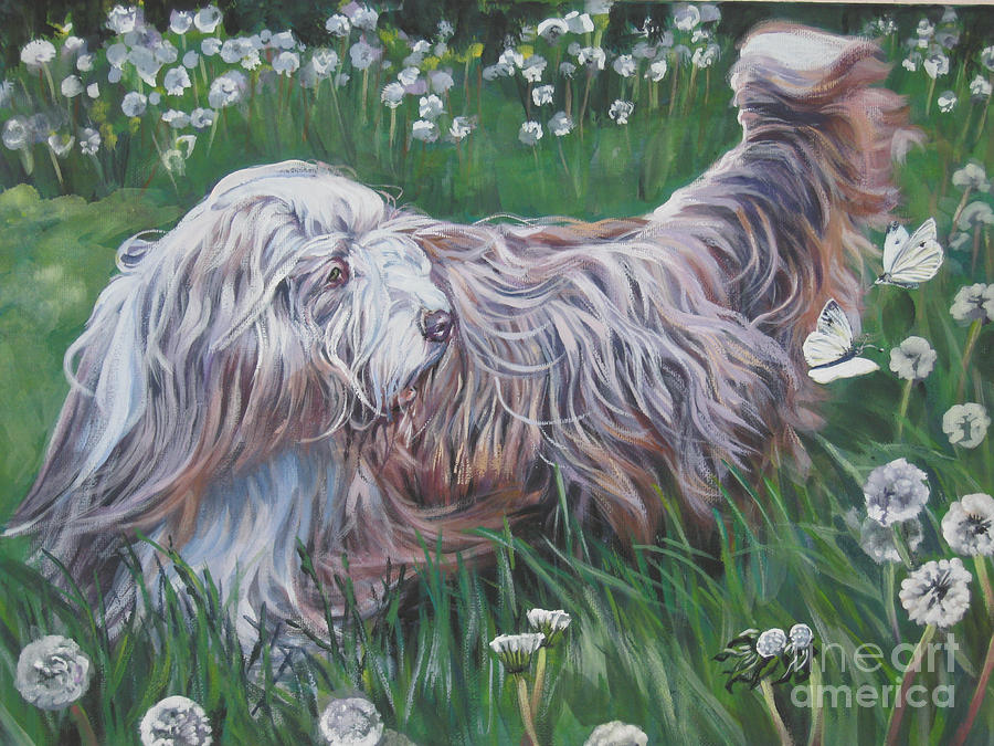 Bearded Collie Painting - Bearded Collie by Lee Ann Shepard