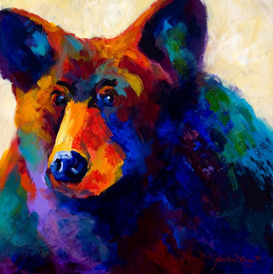 Bear Painting - Beary Nice - Black Bear by Marion Rose