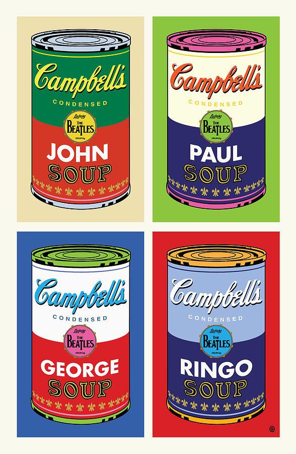 Pop Art Digital Art - Beatles Soup by Gary Grayson