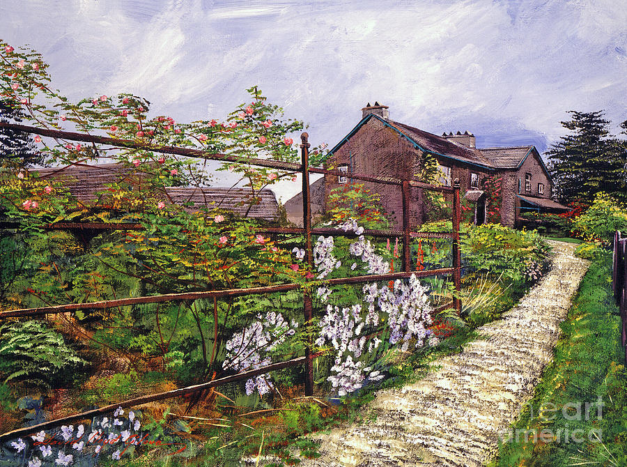 English Country Gardens Painting - Beatrix Potter House by David Lloyd Glover