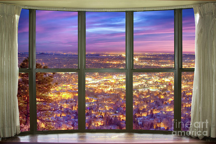 beautiful city lights bay window view photograph by james