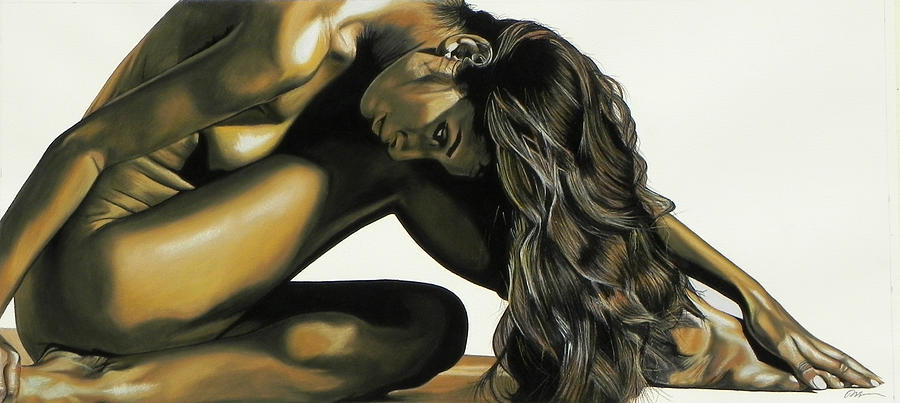 Nude Painting - Beautiful Curves by Paul Miners