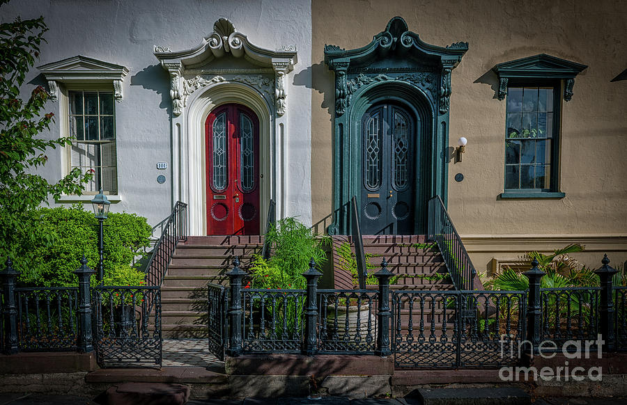 Beautiful Doors On Bull Street Photograph