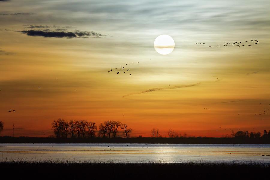 Beautiful Lake Morning Photograph