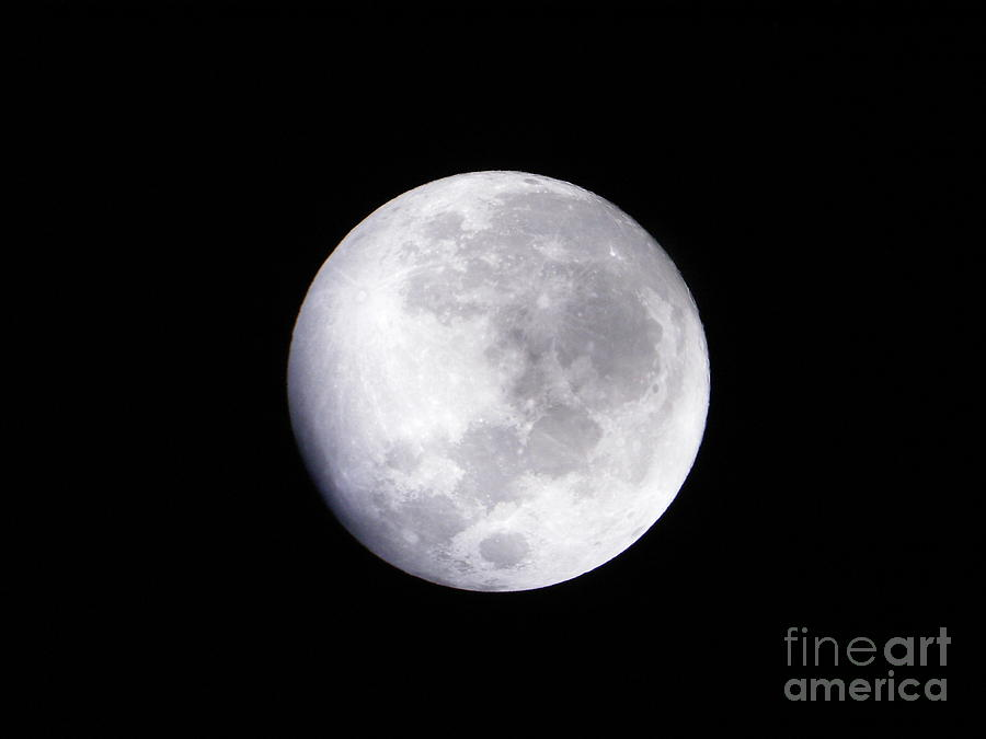 Framed Nature Prints Photograph - Beautiful Moon by Cindy Hudson