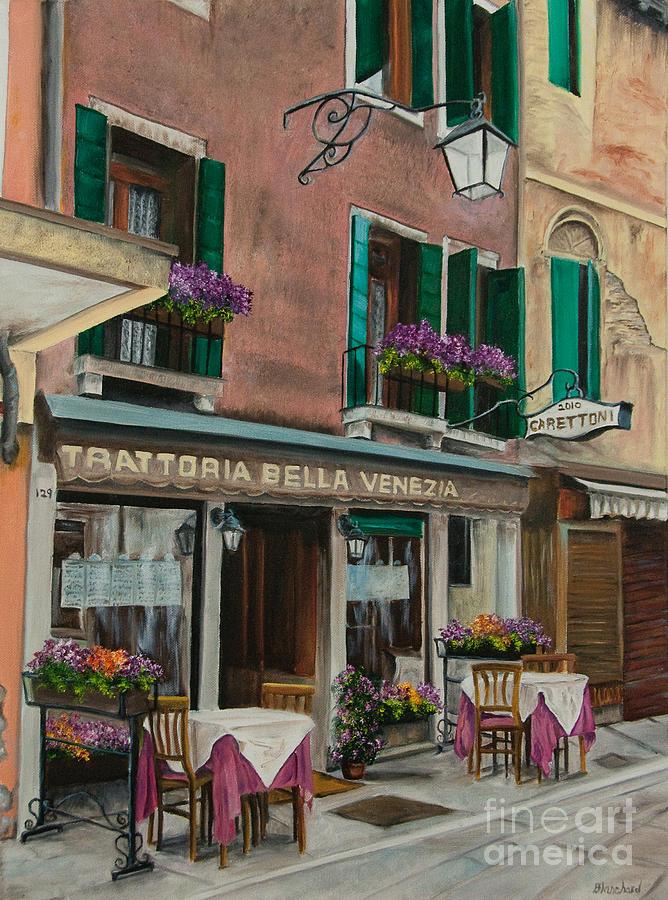 Beautiful Restaurant In Venice Painting