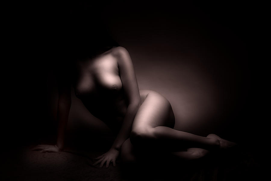 Nude Photograph - Beauty In The Dark by Naman Imagery