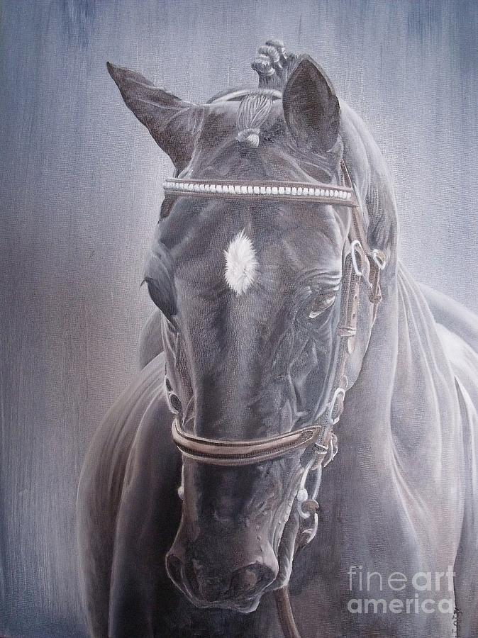 Horse Painting - Beauty Spot by Pauline Sharp
