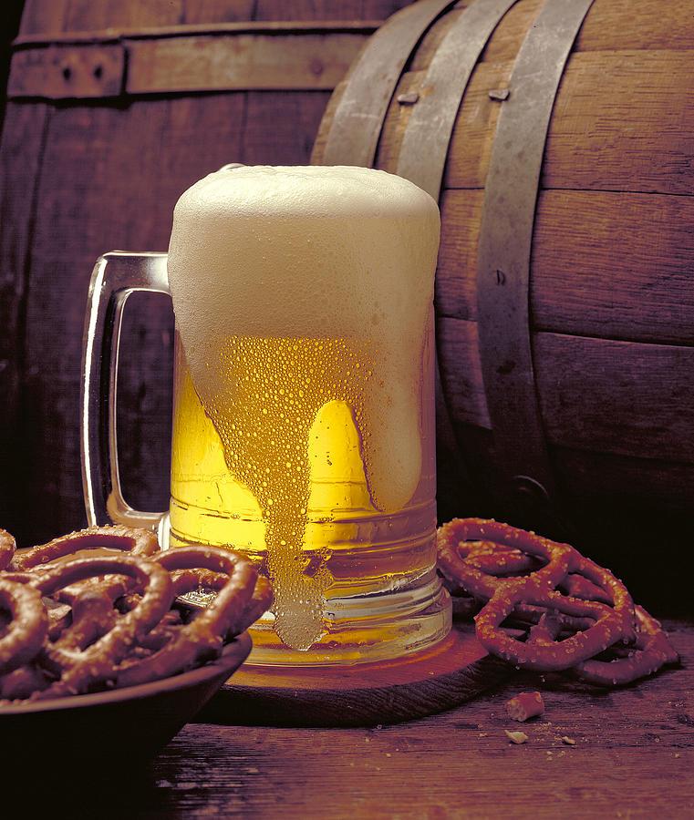 Beer And Pretzels Photograph