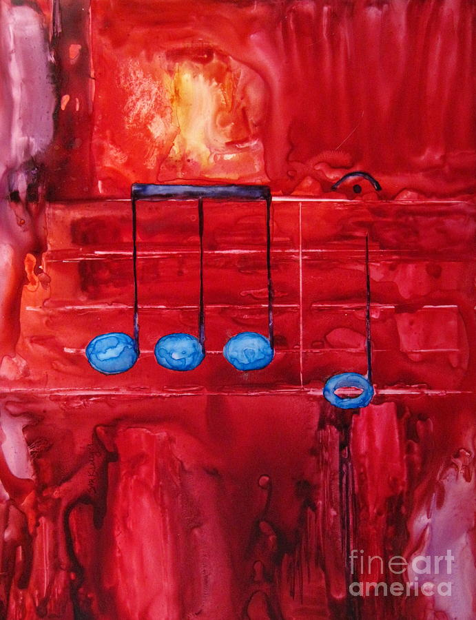 Music Painting - Beethovens Fifth by Suzanne Krueger