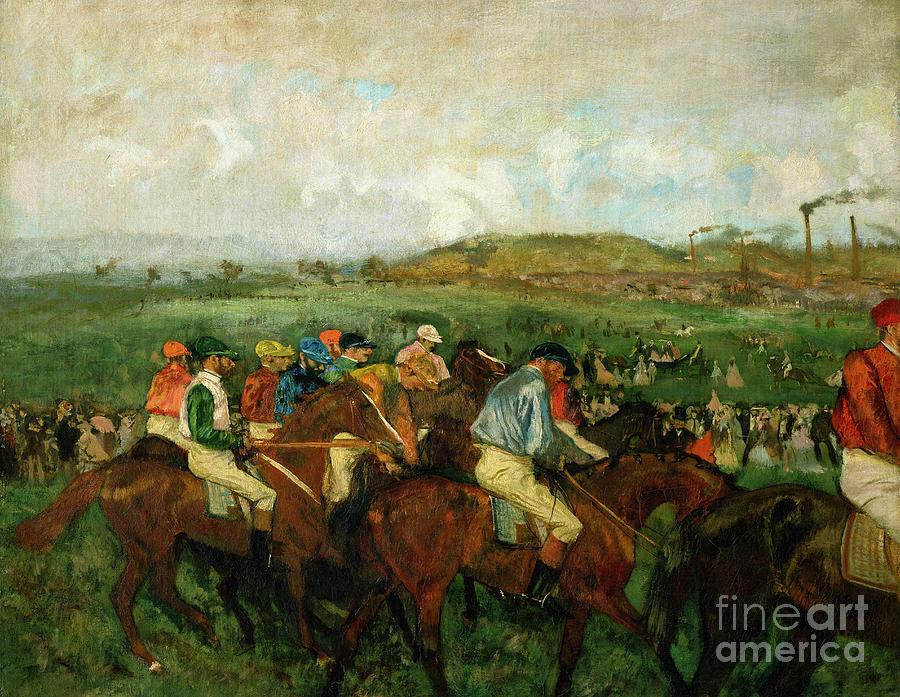 Gentlemen Race. Before The Departure Painting - Before The Departure by Edgar Degas