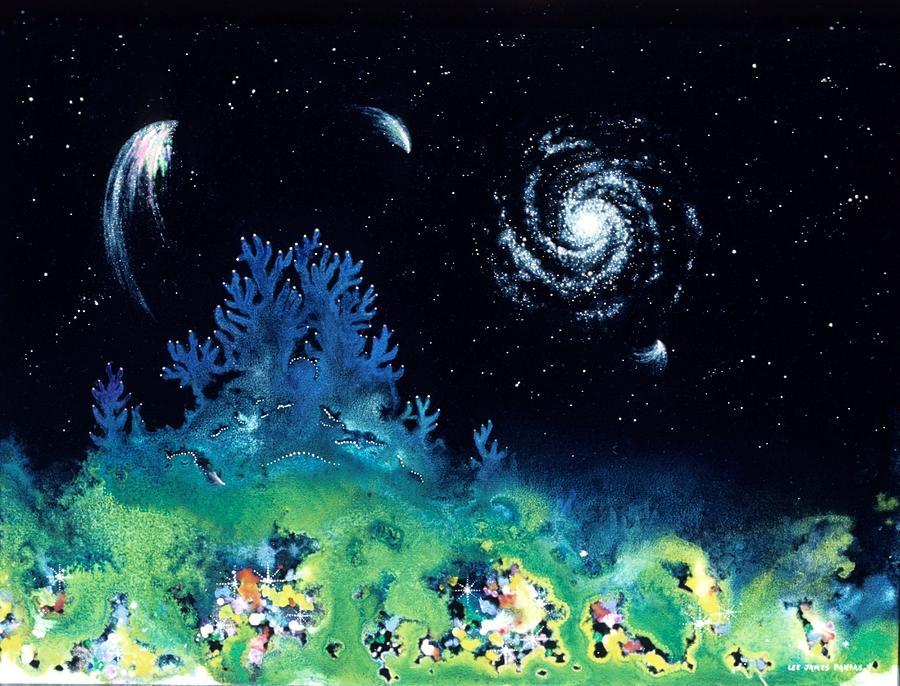 Spiritual Painting - Beginning Of The Great Voyage by Lee Pantas