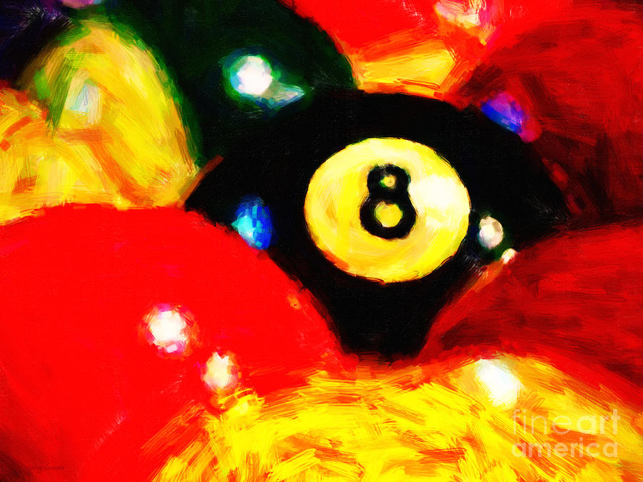 Billiard Photograph - Behind The Eight Ball by Wingsdomain Art and Photography