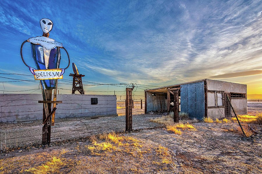 Alien Ranch Photograph - Believe by Peter Tellone