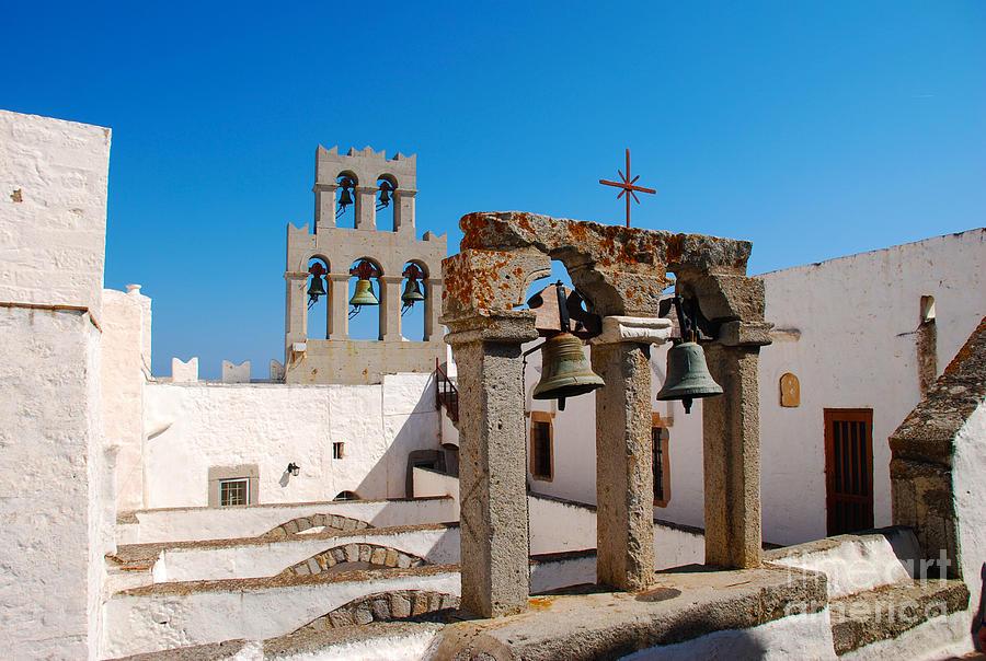 Bell Towers On Monastery Of Saint John The Theologian ...