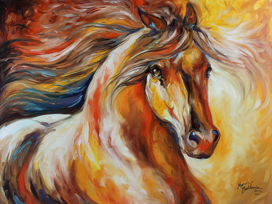 Horse Painting - Bella by Marcia Baldwin
