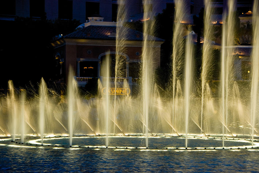 Las Vegas Photograph - Bellagio Light Show - Lasvegas by Neil Doren