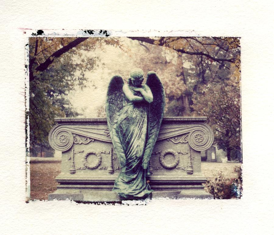Bellefontain Angel Photograph - Bellefontaine Angel Polaroid Transfer by Jane Linders