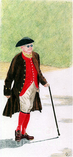 Americana Drawing - Ben Franklin by Glenda Zuckerman