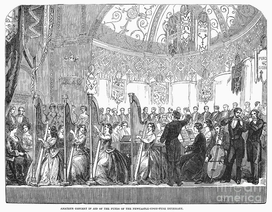 1853 Photograph - Benefit Concert, 1853 by Granger
