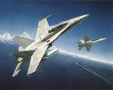 F-18 Painting - Bengal Pride by C S Bailey