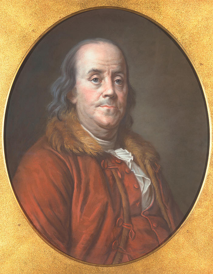Author Painting - Benjamin Franklin by Jean Valade