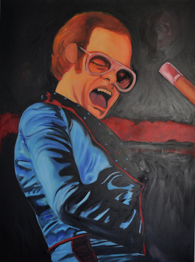 Elton John Painting - Benny And The Jet by Mitchell Todd