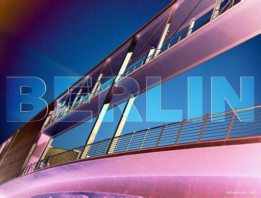 Berlin Digital Art - Berlin Bridge At The Reichstagsufer by Lars Van Core
