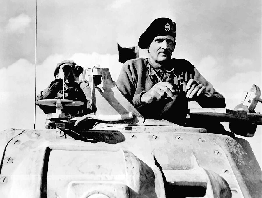 Monty Painting - Bernard Law Montgomery by War Is Hell Store