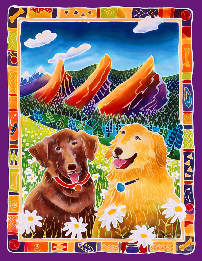 Dog Painting - Best Friends by Harriet Peck Taylor