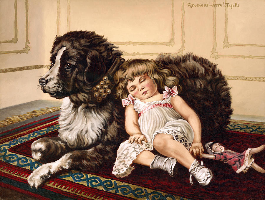 Victorian Painting - Best Friends by Richard De Wolfe