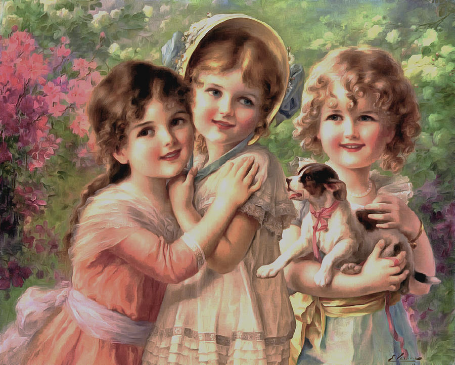 Emile Vernon Digital Art - Best Of Friends by Emile Vernon
