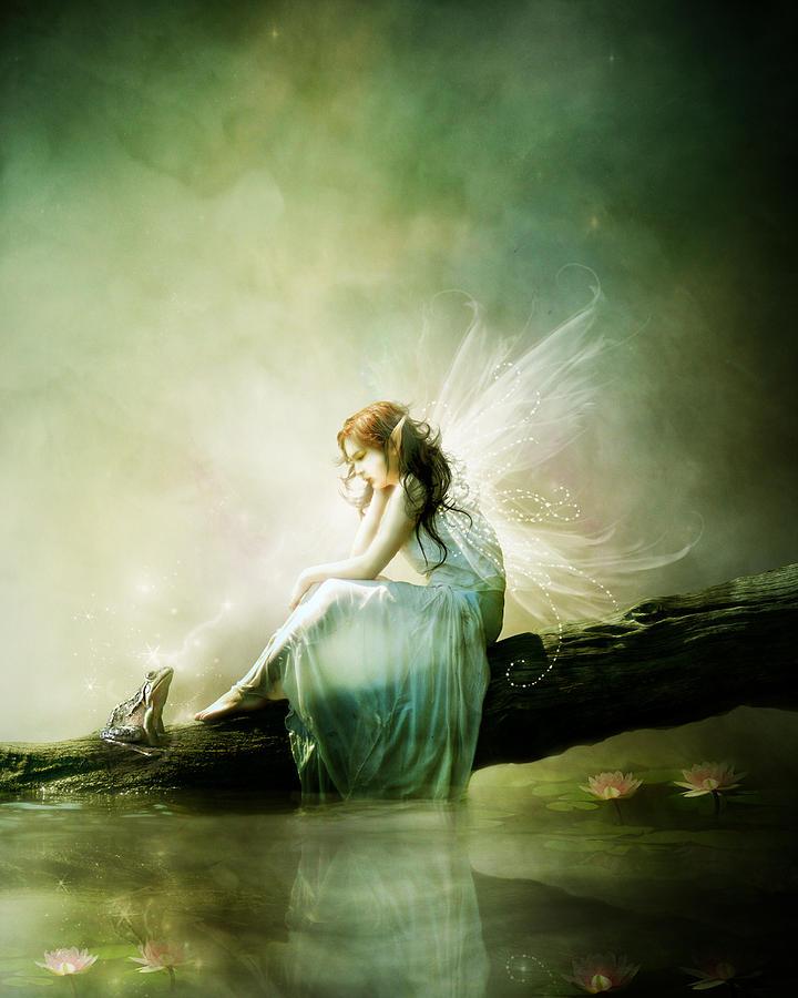 Fairy Digital Art - Best Of Friends by Mary Hood