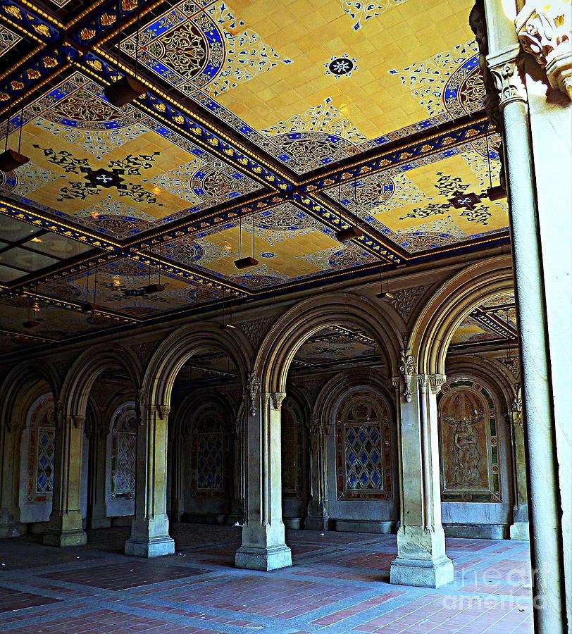 Central Park Photograph - Bethesda Terrace Arcade In Central Park by James Aiken