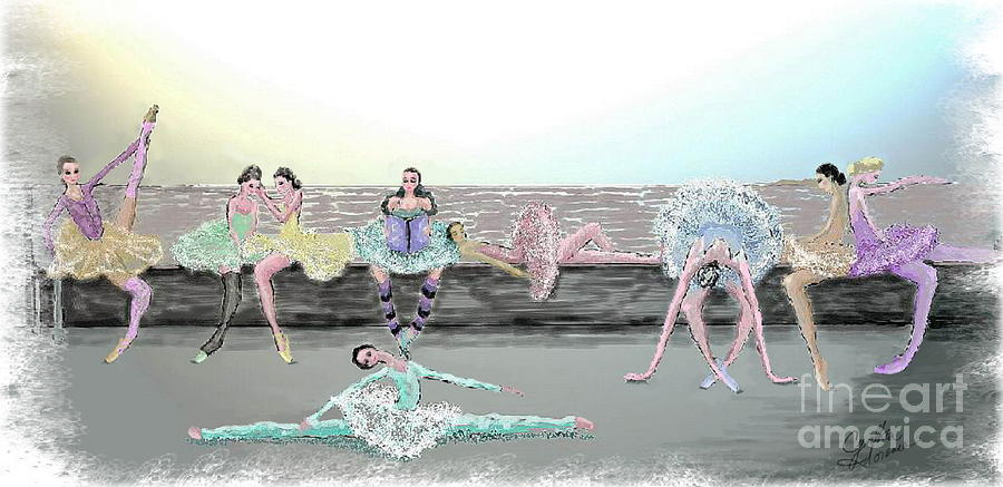 Ballet Painting - Between Acts by Cynthia Sorensen