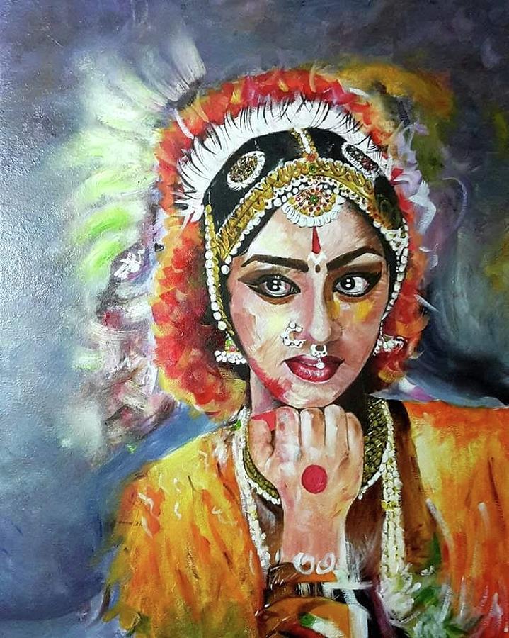 bharatanatyam dance painting - photo #16