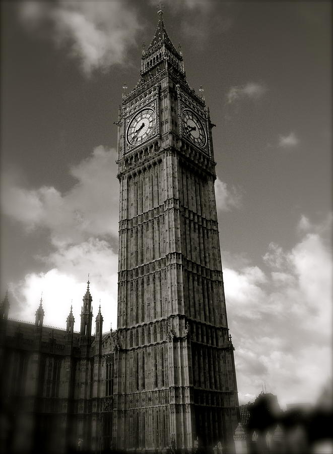 Lloyds Of London Photograph - Big Ben by John Colley
