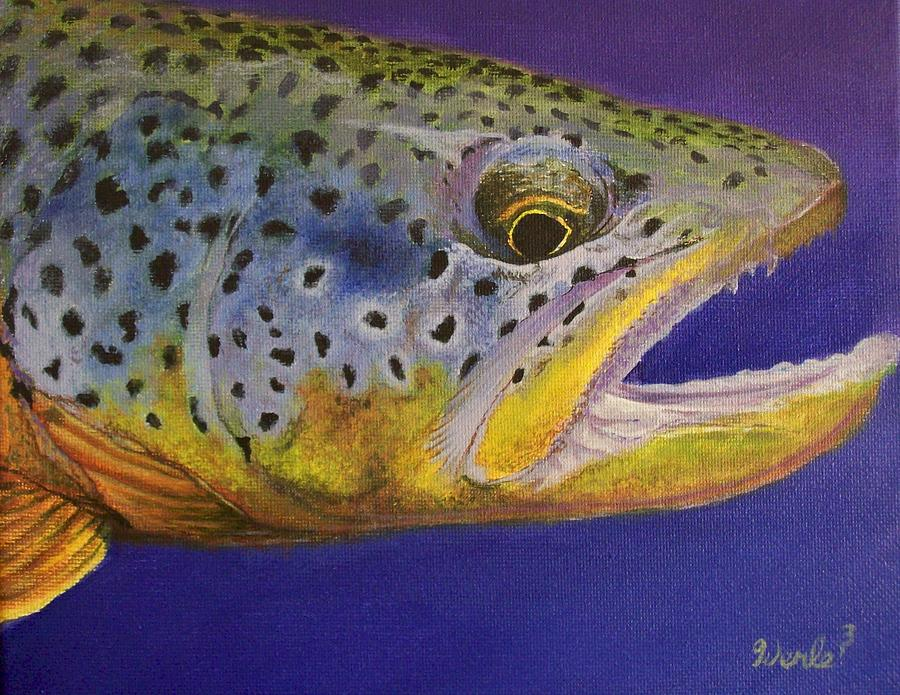 Trout Paintings Painting - Big Brown by Bill Werle