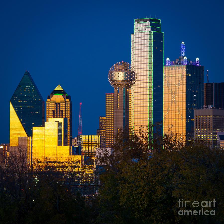 Dallas Photograph - Big D Up Close by Inge Johnsson