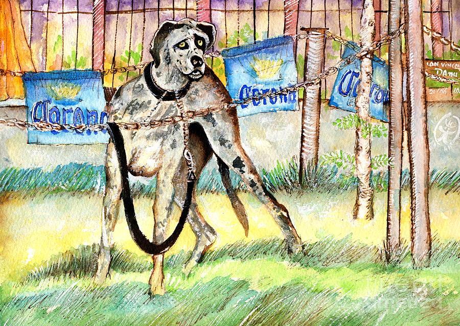 Dane Dog Painting Painting - Big Dane by Ion Danu