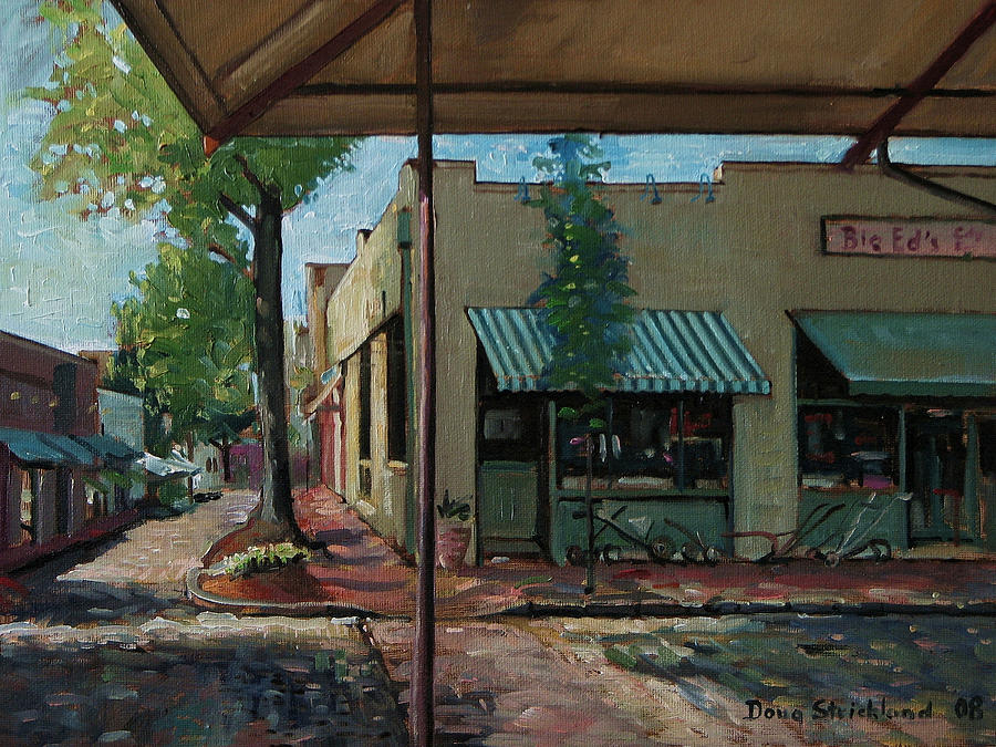 Doug Strickland Painting - Big Eds Cafe Raleigh Nc by Doug Strickland