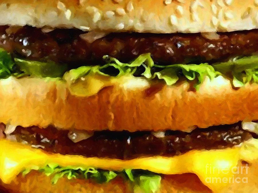 Mcdonald Photograph - Big Mac - Painterly by Wingsdomain Art and Photography