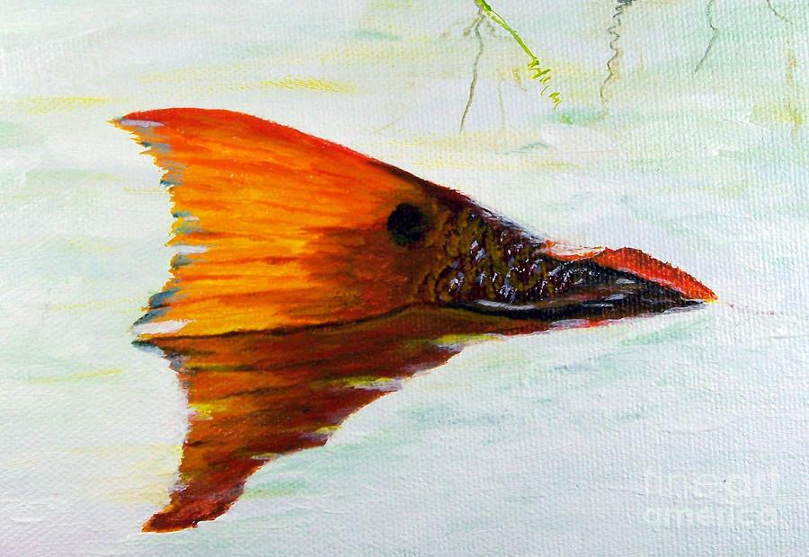 Redfish Painting - Big Red by Georgie McNeese