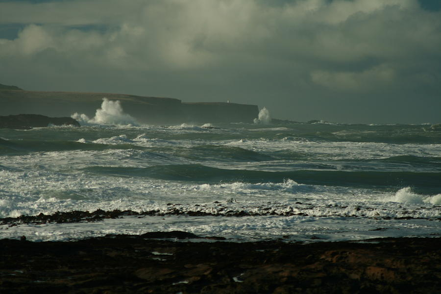 Photographic Seascape Photograph - Big Sea. Slope Point by Terry Perham