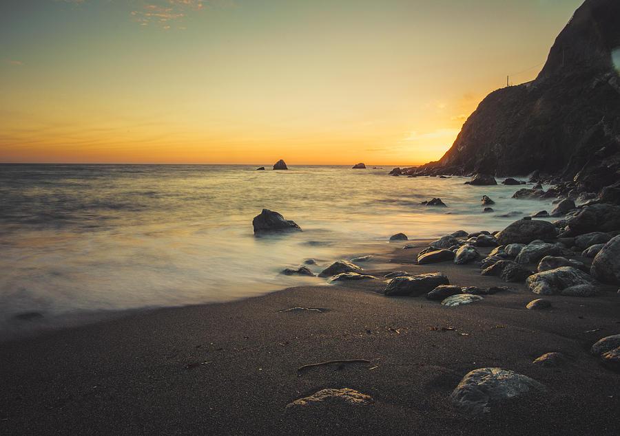 Beach Photograph - Big Sur Beach by Lynn Andrews