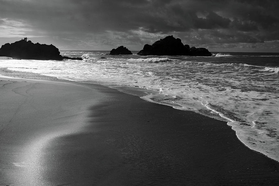 Beach Photograph - Big Sur Black And White by Pierre Leclerc Photography
