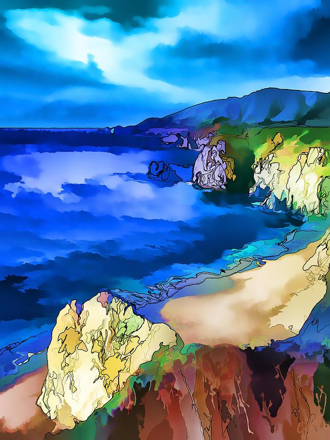 Nature Digital Art - Big Sur Coast by ABeautifulSky Photography