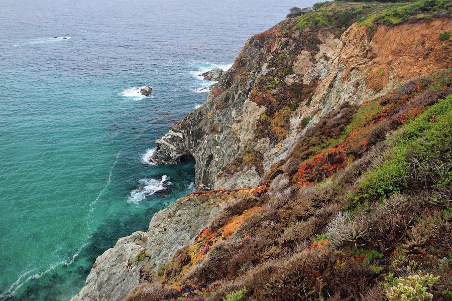 Big Sur Colorful Sea Cliffs Photograph