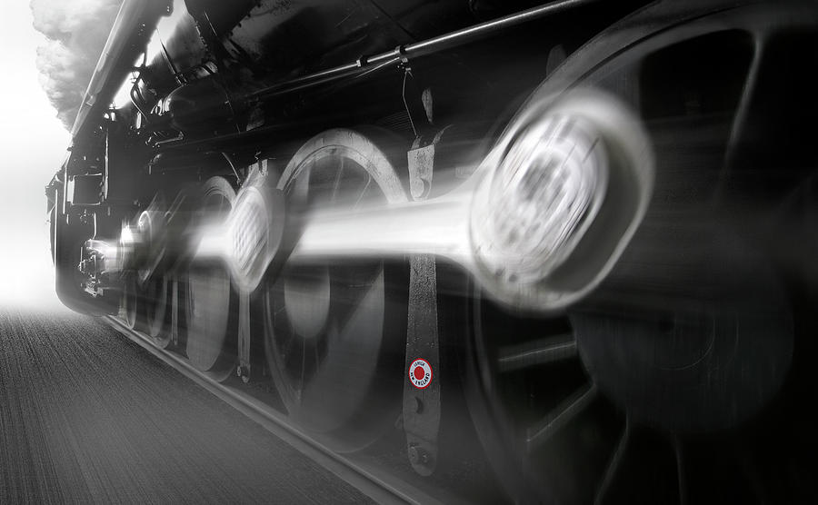 Transportation Photograph - Big Wheels In Motion by Mike McGlothlen